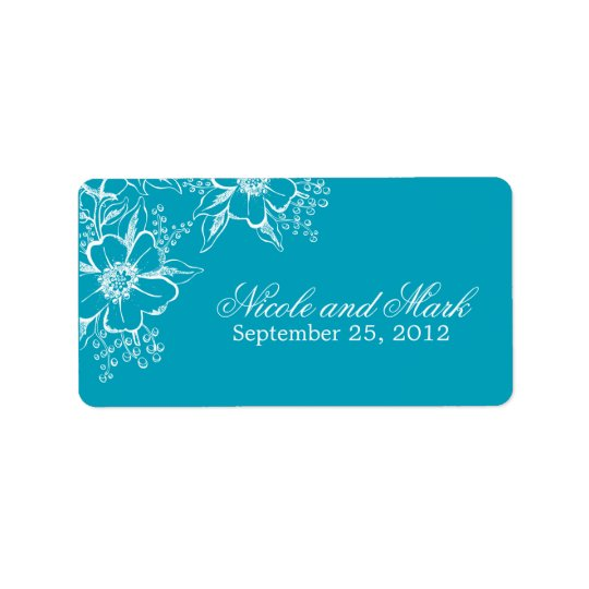 Elegant Floral Wedding Favour Labels