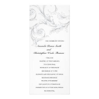 Elegant Floral Wedding Program Personalized Rack Card