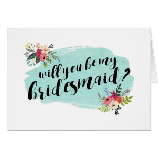 Elegant Floral Will You Be My Bridesmaid? Card