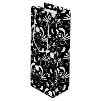 Elegant floral wine gift bag