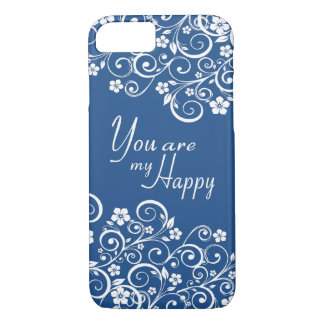 Elegant Floral You are my Happy iPhone 7 Case