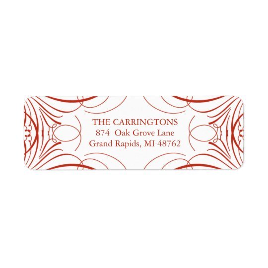 Elegant Flourish Return Address Label