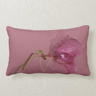 Elegant flower design pastel purple lumbar pillow