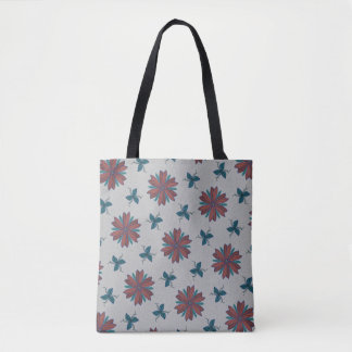 Elegant flowers and delicate leaves and vines tote bag