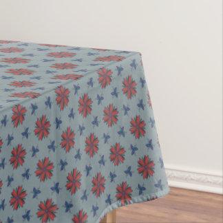 Elegant flowers and leaves tablecloth