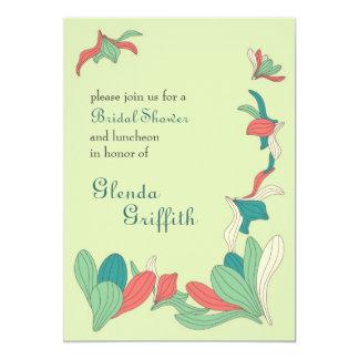 Elegant Flowers Bridal Shower Invitation