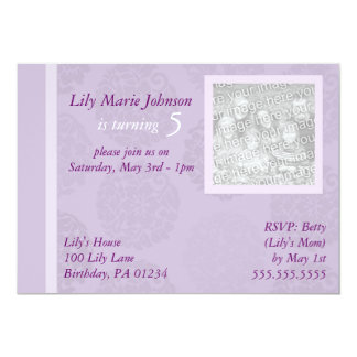 Elegant Flowers Girl's Brithday Party Invitations
