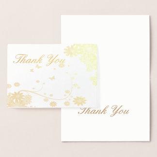 Elegant Foil  Greeting card Thank You