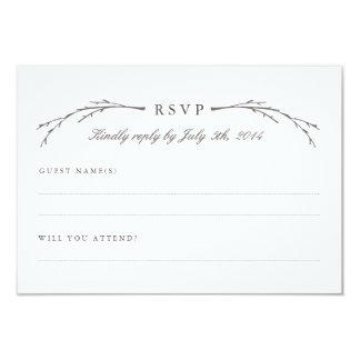"Elegant Forest Wedding RSVP Cards 3.5"" X 5"" Invitation Card"