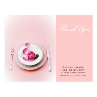 elegant fork knife plate Catering personal chef Postcard