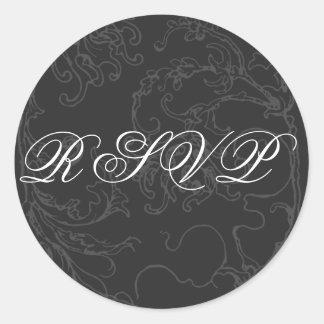 Elegant & Formal RSVP Sticker