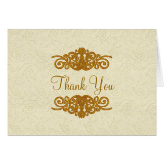 Elegant Formal Thank You Note Card