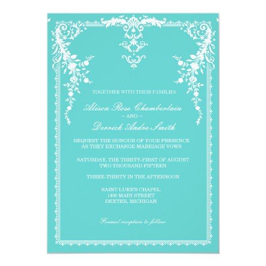 Www Zazzle Com Wedding Invitations: Elegant Formal Wedding Invitation, Tiffany Blue Card