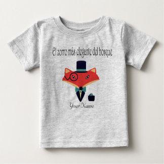 Elegant Fox Spanish Language Baby Jersey T-Shirt