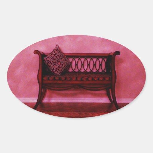 Elegant Foyer Settee Seat Mirror Interior Design Sticker