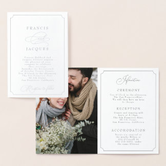 elegant frame wedding invitation (PORTRAIT)