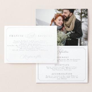 elegant frame wedding invitation with Photograph