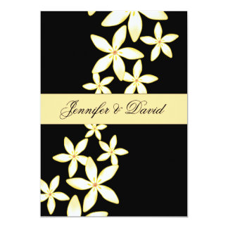 Elegant Frangipani Wedding Invitation