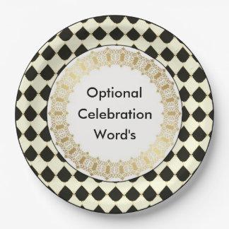 Elegant-French-Celebration-Classic_Paper-Plates Paper Plate