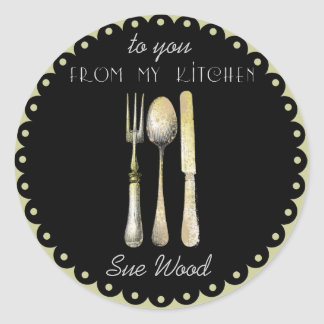 "Elegant ""From My Kitchen"" Gift Labels"