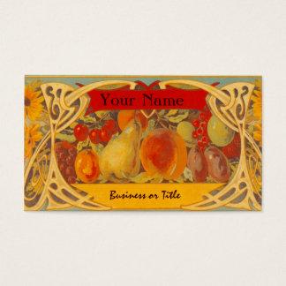 Elegant Fruit Label Design Business Cards