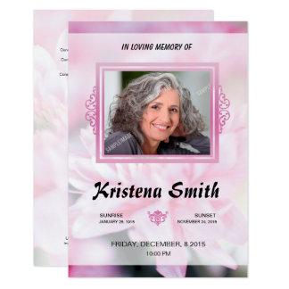 Elegant Funeral Card
