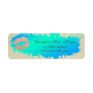 Elegant Funny Cute Lip   Label Return Address Label