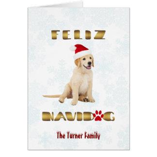 Elegant Funny Gold Foil Feliz Navidad Typography Card