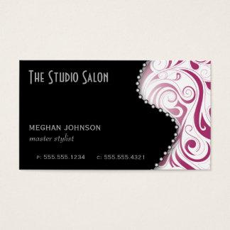 Elegant Fuschia Swirly Swirl Business Card