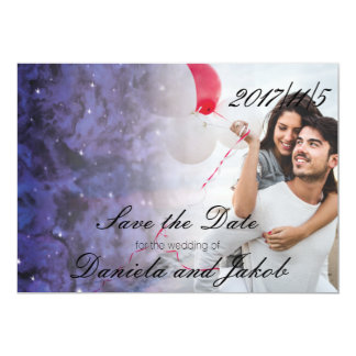 Elegant Galaxy Save the Date Cards