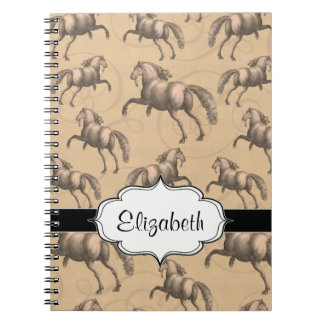 Elegant Galloping Spanish Horse Notebook