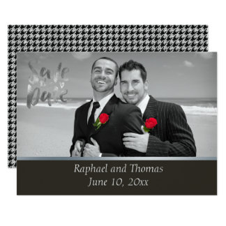 Elegant Gay Tuxedo Save the Date Card