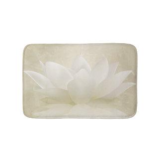 Elegant Gentle White  Lotus / Lily flower Bath Mat