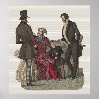 Elegant Gentlemen of the Biedermeier Period Poster