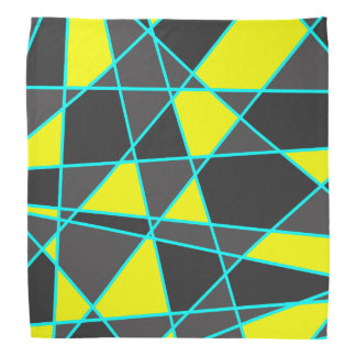 elegant geometric bright neon yellow and mint bandana