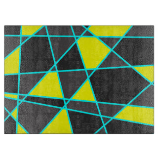 elegant geometric bright neon yellow and mint boards