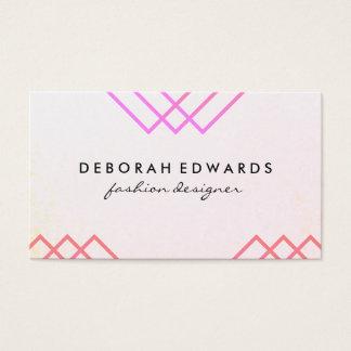 Elegant Geometric Lines Business Card