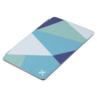 Elegant geometric navy blue and sea green pastel iPad air cover