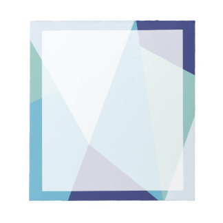 Elegant geometric navy blue and sea green pastel notepad