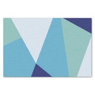 Elegant geometric navy blue and sea green pastel tissue paper
