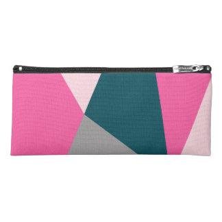 Elegant geometric pastel hot pink emerald green pencil case