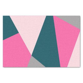 Elegant geometric pastel hot pink emerald green tissue paper