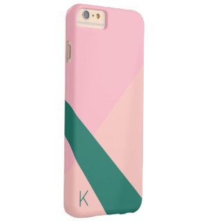 Elegant geometric pastel pink peach green barely there iPhone 6 plus case