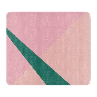 Elegant geometric pastel pink peach green cutting board