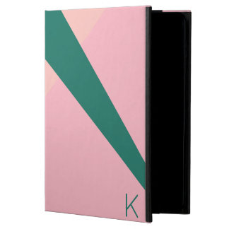 Elegant geometric pastel pink peach green iPad air case