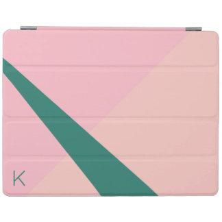 Elegant geometric pastel pink peach green iPad cover
