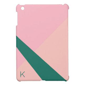Elegant geometric pastel pink peach green iPad mini case