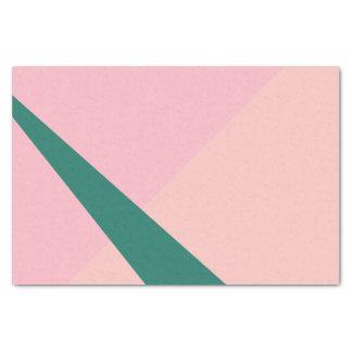 Elegant geometric pastel pink peach green tissue paper