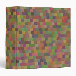 Elegant Geometric Pattern Pastel Square Overlay Vinyl Binders