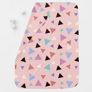 Elegant geometric pattern pink purple mint black baby blanket